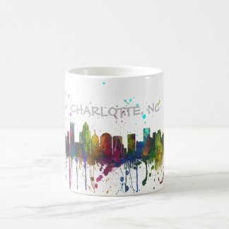 CHARLOTTE, NORTH CAROLINA SKYLINE COFFEE MUG