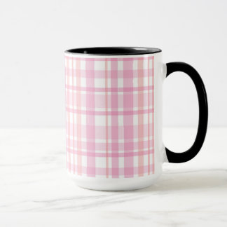 Charlotte Plaid Lavender and White Mug