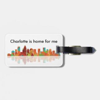 CHARLOTTE SKYLINE - Luggage tag