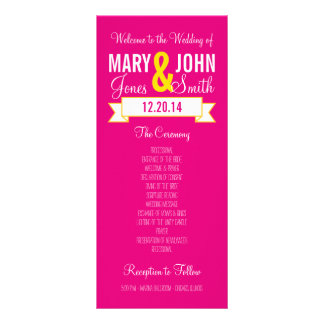 Charming Banner Ceremony Program Personalized Rack Card