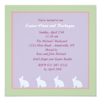 Charming Bunnies Easter Invitation