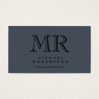 Charming Modern Monogram Gray Clean Business Card