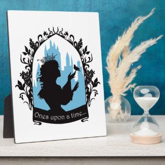 Charming princess stylish silhouette singing bird plaque