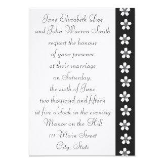 "Charming Sakura in Black Wedding Invitation 5"" X 7"" Invitation Card"