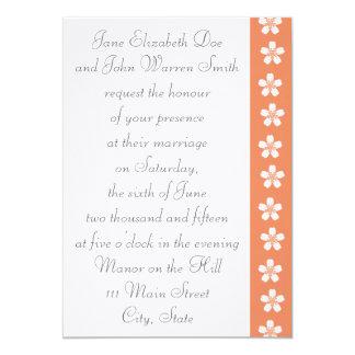 Charming Sakura in Coral Wedding Invitation