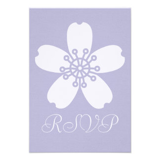 Charming Sakura in Lavender RSVP Card