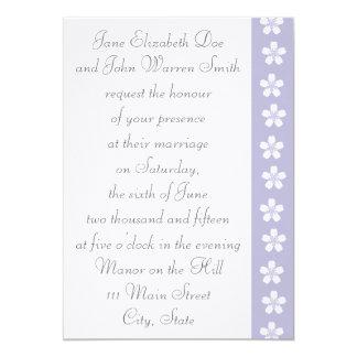 "Charming Sakura in Lavender Wedding Invitation 5"" X 7"" Invitation Card"