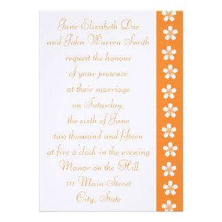 Charming Sakura in Orange Wedding Invitation