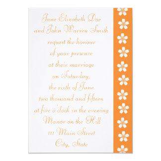 "Charming Sakura in Orange Wedding Invitation 5"" X 7"" Invitation Card"