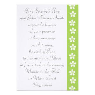 Charming Sakura in Peridot Wedding Invitation