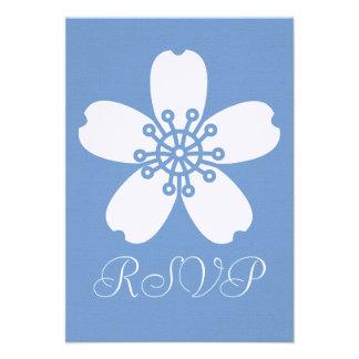 Charming Sakura in Periwinkle RSVP Card