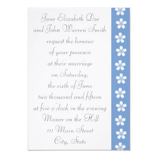 "Charming Sakura in Periwinkle Wedding Invitation 5"" X 7"" Invitation Card"