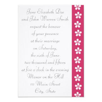 "Charming Sakura in Raspberry Wedding Invitation 5"" X 7"" Invitation Card"