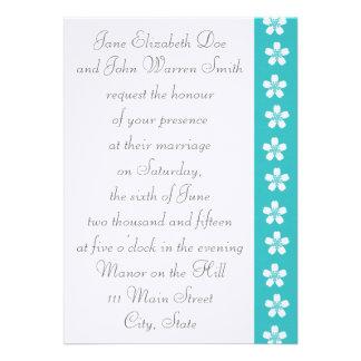 Charming Sakura in Turquoise Wedding Invitation