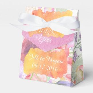 Charming Watercolor Floral Wedding Favor Box Party Favour Boxes