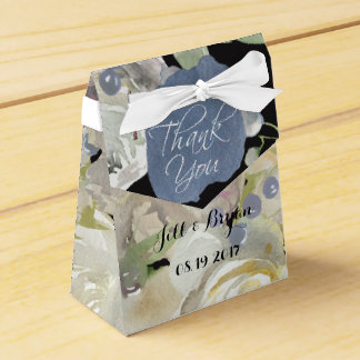 Charming Watercolor Peony Wedding Favor Box Favour Boxes