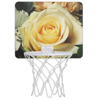 Charming White Rose Mini Basketball Hoop
