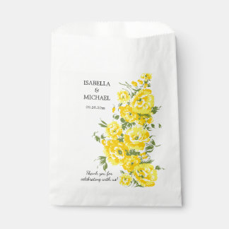 Charming Yellow Flower Wedding Favour Bags