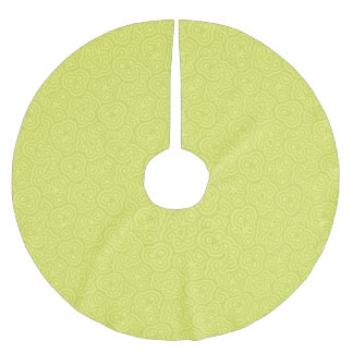 Chartreuse abstract pattern brushed polyester tree skirt