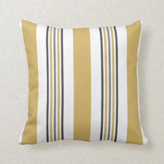 chartreuse and grey lines cushion
