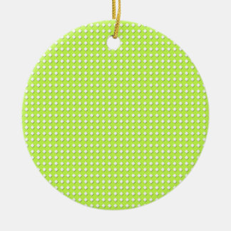Chartreuse Bright Lime Green Pattern - Diamonds Christmas Ornament