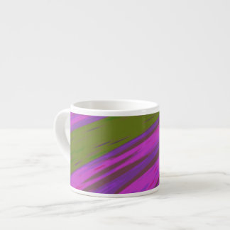 chartreuse green purple pink Color Swish Abstract Espresso Cup