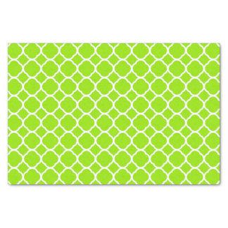 Chartreuse Green Yellow Quatrefoil Pattern Tissue Paper