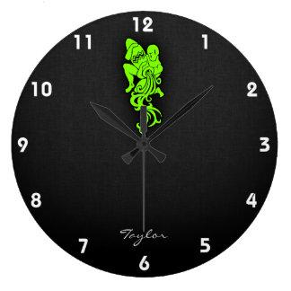 Chartreuse, Neon Green Aquarium Large Clock