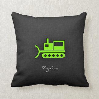 Chartreuse, Neon Green Bulldozer Cushion