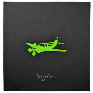 Chartreuse, Neon Green Plane Napkin