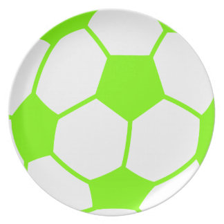 Chartreuse, Neon Green Soccer Ball Plate