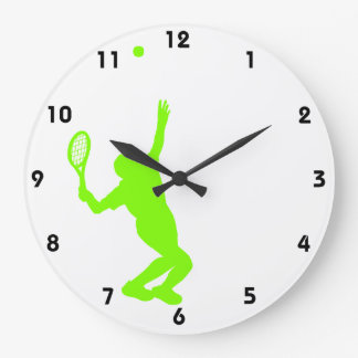 Chartreuse, Neon Green Tennis Large Clock