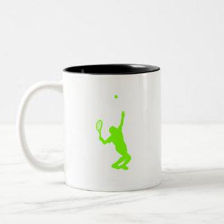 Chartreuse, Neon Green Tennis Two-Tone Coffee Mug