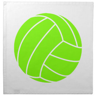 Chartreuse, Neon Green Volleyball Napkin