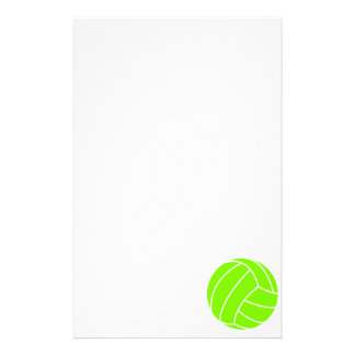 Chartreuse, Neon Green Volleyball Stationery