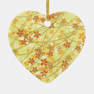 Chartreuse Origami Pattern Christmas Ornament