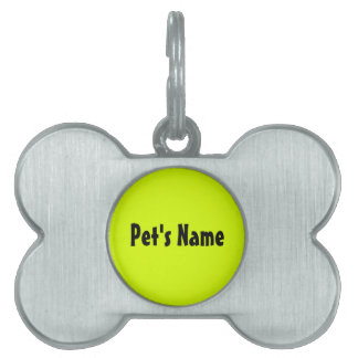 Chartreuse Pet Tag