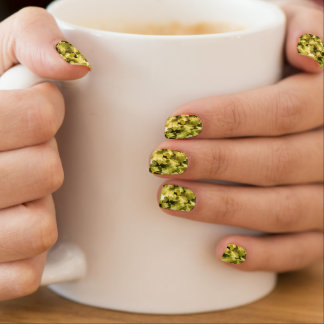 Chartreuse Yellow Pear Color Heart Nail Art