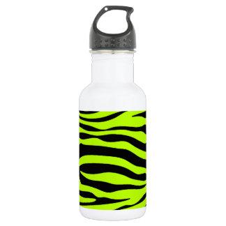 Chartreuse Zebra Stripes Animal Print 532 Ml Water Bottle