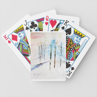 Charts of Plays Winter Bicycle Playing Cards