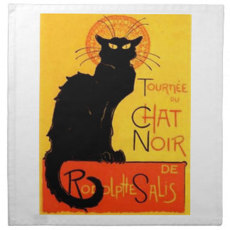 Chat Noir...Black Cat Napkins
