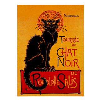 CHAT NOIR (black cat) ~ Poster
