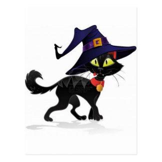 Chat noir Halloween Postcard
