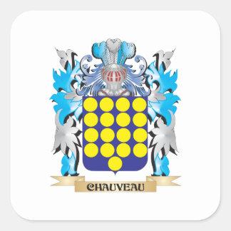 Chauveau Coat of Arms - Family Crest Sticker