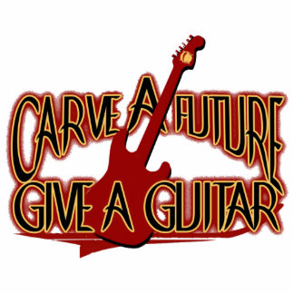 "Chaveiro ""Carve the Future Give the Guitar "" Photo Sculpture Key Ring"