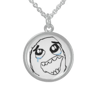 Chaveiro Happy MEME Sterling Silver Necklace