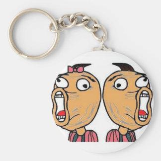 Chaveiro Meme LOL Boy and Girl Key Ring