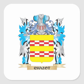 Chazot Coat of Arms - Family Crest Stickers