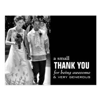 Cheap Wedding Thank You Card - Photo Funny! Postcard