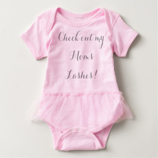 Check out my mom's lashes baby bodysuit